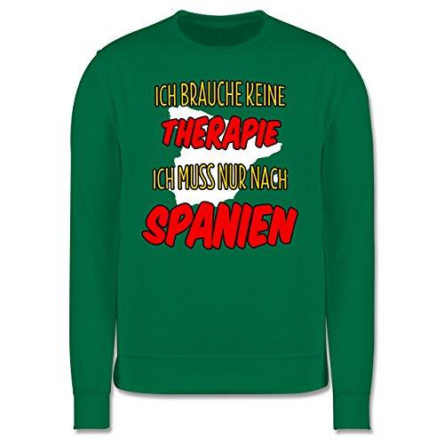 Länder - Ich brauche keine Therapie ich muss nur nach Spanien - Herren Premium Pullover Grün