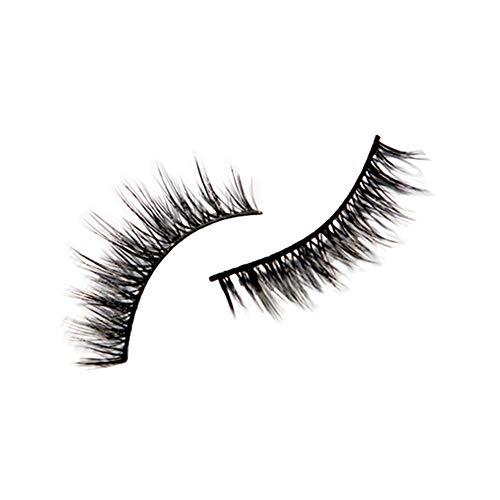 SMILEQ Schwarze Falsche Individuelle Wimpern Kleber Remover Mascara Kits Set (B)