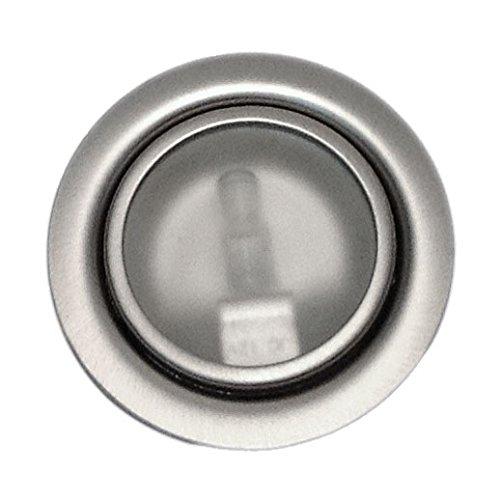 Möbeleinbauleuchte Farbe: Satin | 12Volt AC G4 20Watt inkl. Leuchtmittel (dimmbar) | Bohrloch: 55-60mm - Außen: 70mm - Einbautiefe: 15mm | - auch für LED G4 Lampen geeignet