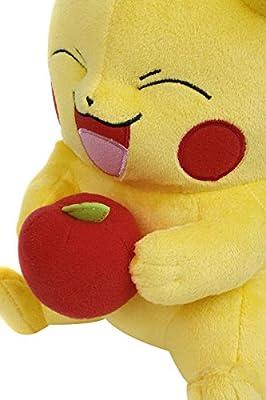 Pokemon Pikachu con Manzana Peluche Amarillo