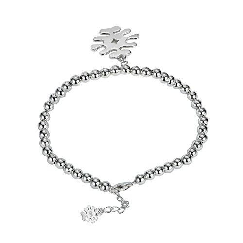 Adisaer Silber Damen Armband Charm-Armband Silber Einfach Fischgräte Armbänder Einstellbar Kette für Frauen Verlobung
