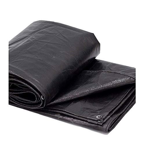 Planengarten wasserdicht Allzweck-Poly Tarps wasserdicht schwarz Baldachin Zelt Abdeckung Sonnenschirm Depots Anzüge für Shelter für Auto Boote Pool Regenschutzplane Multi-Größe ( Size : 3mx5m ) -