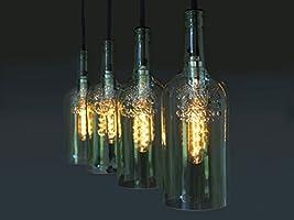 """Vintage Flaschenlampe Hängelampe """"quatro"""""""