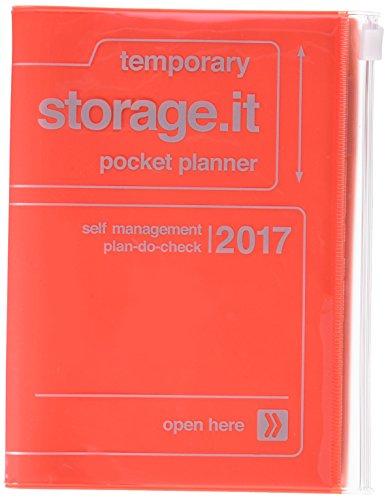 Mark's 2017Taschenkalender A6Vertikal, Storage. it//RED ORANGE: Kal