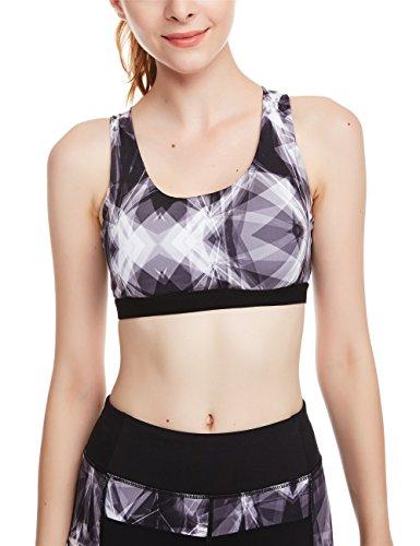 icyZone® Femme Sexy Soutien-gorge de Sport Lingerie Brassière Sans Armature pour Yoga Gym Glass
