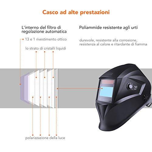 Zoom IMG-1 casco di saldatura tacklife pah04d