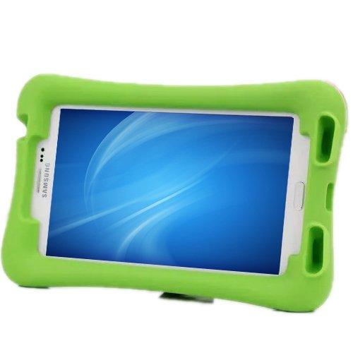 NEWSTYLE Samsung Galaxy Tab 3 7.0 Kinderfreundliche Silikon Hülle Schutzhülle Tasche Case für Samsung Tab 3 P3200 / P3210 / T211 / T210 - Grün