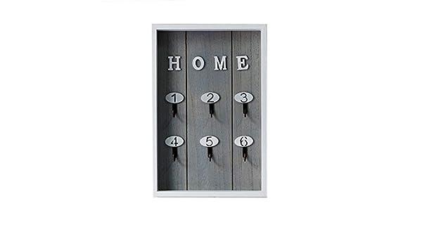 Portachiavi di legno di stile nordico scatola di immagazzinaggio fissato al muro serratura appeso scaffale portachiavi gioielli organizzatore ornamento mestieri puntelli