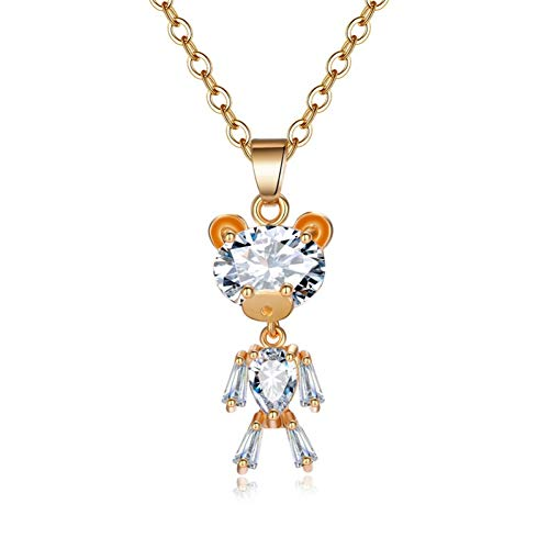 JMZDAW Collana pendente Lady Crystal Oro Argento Zircone Collana Pendente Color Argento Animale Dichiarazione Collana Gioielli Regalo