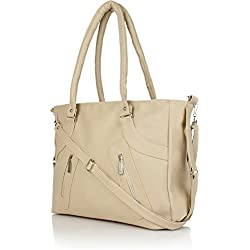 Glory Fashion Women's Handbag (Beige,Bags Beautys)