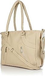 Glory Fashion Women's Handbag (Beige,Bags Beautys)