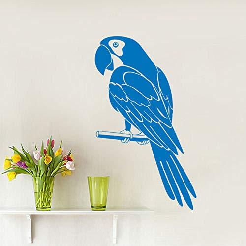 guijiumai Fai da Te Pappagallo Uccello Arte della Parete Animale Decalcomania della Parete del Vinile Wall Sticker Home Decor Carta da Parati murale Rosso 60x30 cm