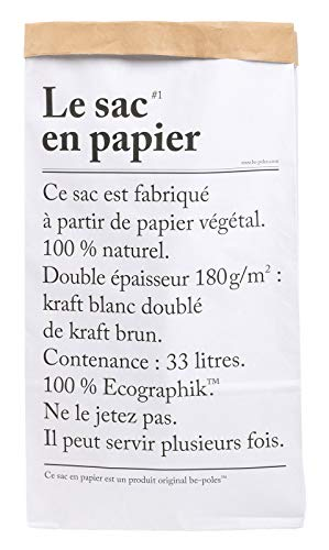 LE Sac EN Papier The Paper Bag 33L Papel Almacenamiento
