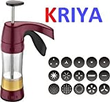 #10: Kriya enterprises Multi Purpose Cookies,Indian Snakes Murukku Maker, Farsan Sev Maker, Manual Pasta Making Machine