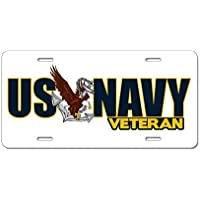 CafePress Navy Veteran in alluminio targa, Standard, colore: multicolore