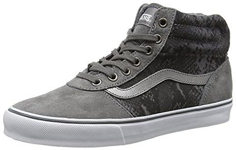 Vans Women's Milton Hi-Top Sneakers, Grey (Mte Snake Gray/Tan), 4