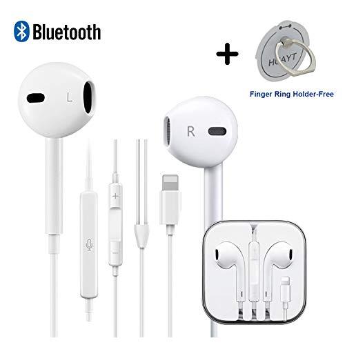 HUAYT In-Ear-Ohrhörer, kabelgebunden, Kopfhörer mit Mikrofon und Lautstärkeregler, kompatibel mit LG XR/XS/MAX/8/7/6S/Plus [muss vor Gebrauch Bluetooth verbinden