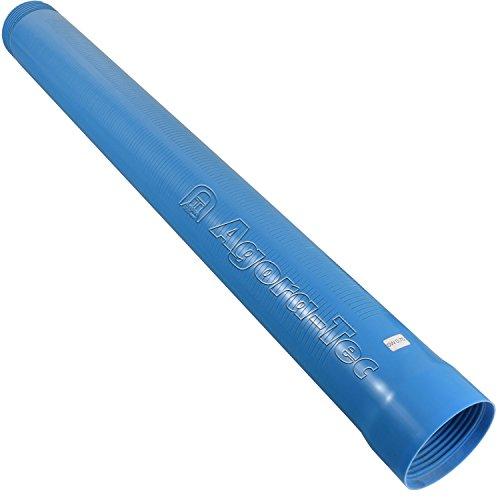 Agora-Tec Brunnenrohr (Filterrohr) 4 Zoll DN 100 blau 1 Meter (Schlitzweite: 0,75mm) für den Bau eines Tiefbrunnen