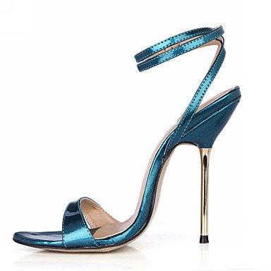 LFNLYX Donna Sandali Estate cinturino alla caviglia PU Party & abito da sera Stiletto Heel blu Oro Bianco Borgogna Blue