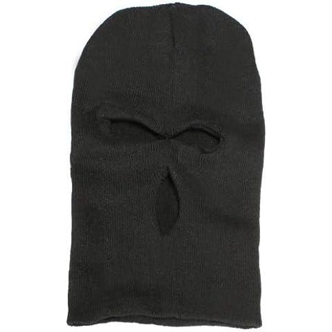 MaMaison007 3 agujero cara máscara pasamontañas sombrero esquí ejército tapa gorro capucha de punto