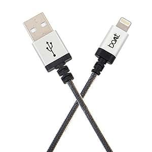 boAt LTG 500-2Mtr Data Cable (Metallic Silver)