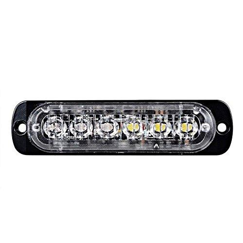 Preisvergleich Produktbild Neue 6-LED Weiß & Amber Wasserdichte Notleuchte Blitz Vorsicht Strobe Light Bar 16 verschiedene blinkende Auto SUV Pickup Truck Van (1 Stück) (Amber)