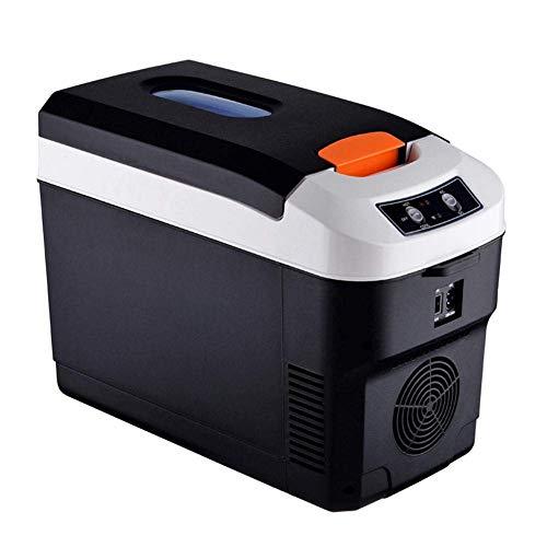WXCCK 7.5L Electric Cool Box - Tragbarer Kühlschrank Fürs Auto Mit Kühler Und Wärmeren Mini-Kühlschränken Für Reisen Und Picknick Auf Reisen Und Camping,Schwarz -
