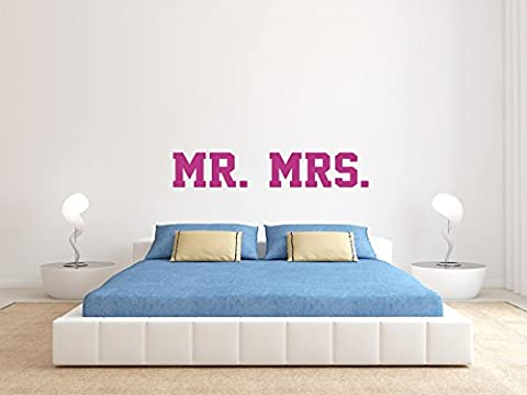 MR. And MRS. - SUPERSTAR STYLE - Pink - Klein - Wandtattoo