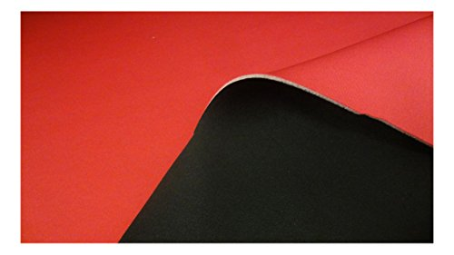 Fabrics-City {92d17521d122177eb027d01d11d9b8188623a43a2de0f6b4cc5218e7245baf17} SCHWARZ/ROT 3MM STRETCH NEOPREN-IMITAT STOFF DOUBLEFACE NEOPRENSTOFF STOFFE, 2899