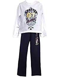 08f467de0 Boys Girls Harry Potter Pyjamas Set (10-11, Navy/White)