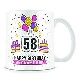 Tazza di caffè, ° compleanno per donne e uomini festa di compleanno in ceramica Coffee Cup, 311,8gram, bianco