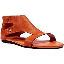 53f8a420396 Minetom Sandalias Mujeres Bohemia Verano Planos Moda Casual Elegante Peep  Toe Shoes Sandals Zapatos De Playa