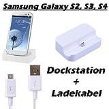 Dockingstation Ladekabel Samsung Galaxy S2 S3 S4 mini Ladestation Netzteil HTC