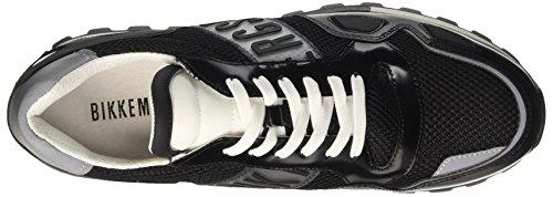 BIKKEMBERGS Herren Fend-Er 866 Niedrige Sneaker Nero (Black/white)