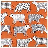 Curiosa vacas servilletas de papel servilletas Pk 20), color blanco