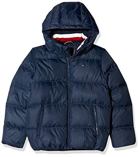 Tommy Hilfiger Essentials Down Jacket Chaqueta, Blue 002, 140 Talla del fabricante: 10 para Niños...