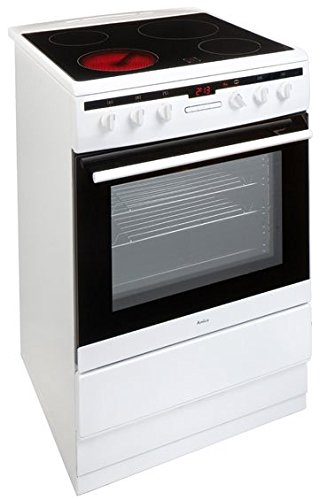 Amica 608CE2TAW Freestanding Ceramic Top Cooker, 65 Litre, 60 cm, White Best Price and Cheapest