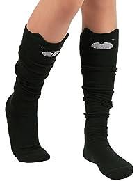 Calcetines,RETUROM Moda mujer gato de dibujos animados sobre los calcetines de rodilla alta