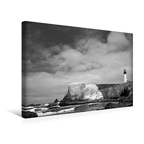 Premium Textil-Leinwand 45 cm x 30 cm quer, Yaquina Head Lighthouse, Oregon | Wandbild, Bild auf Keilrahmen, Fertigbild auf echter Leinwand, Leinwanddruck (CALVENDO Orte) (Head Yaquina)