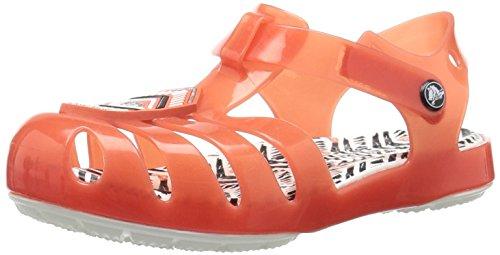 Crocs crocs205199 - sandali per bambini drew x isabella bimba 0-24 unisex - kids, rosso (tomato/white), 26 eu