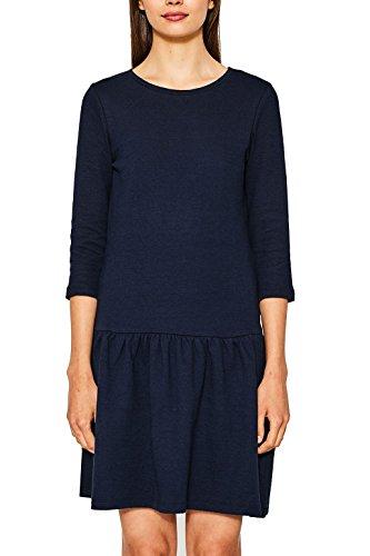 ESPRIT Damen Kleid 077EE1E028, Blau (Navy 400), Small