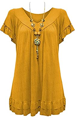 Vanilla Inc New Ladies Womens Gypsy Frill Hippy Plus Size Necklace Top UK SIZE 12-30