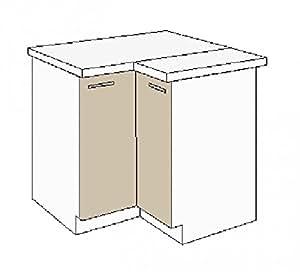 k chen eckunterschrank 89x89 cm f r das modell dave 240 eiche sonoma tr ffel 39. Black Bedroom Furniture Sets. Home Design Ideas