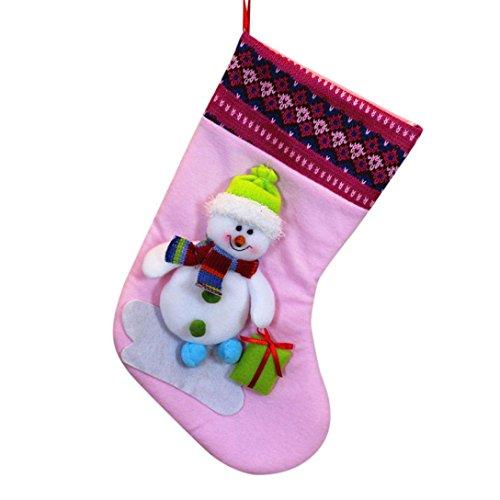 eschenk Tasche Weihnachtsmann Schneemann Elch Weihnachten Dekoration Ornament Sock Dekore (Rosa) (Schneemann Ornament)
