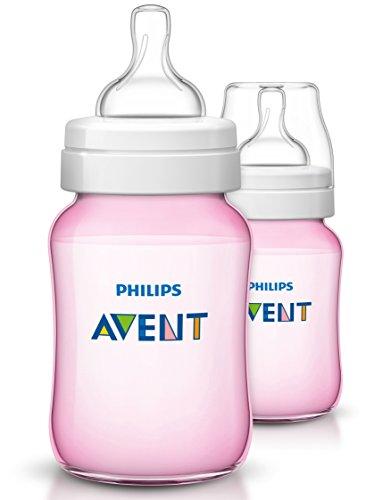 Philips Avent Klassik+ Flasche SCF564/27, 260ml, 2er Pack, rosa