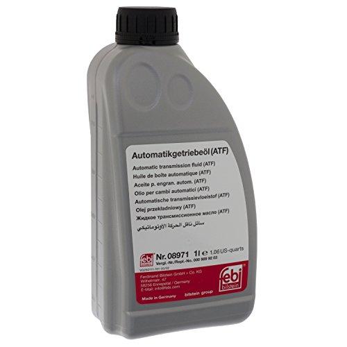 febi bilstein 08971 Automatikgetriebeöl (ATF) in automatischen Getrieben, Wandlern und Hydrolenkungen (rot) 1 Liter