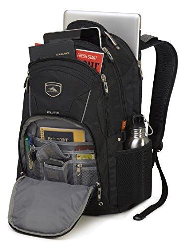 High Sierra 17″ Laptop Elite Business Backpack 43 Liters School Uni Black Bag