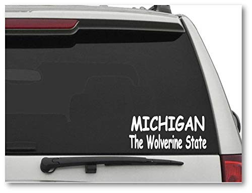 Michigan The Wolverine State Vinyl Car Truck Window Laptop Sticker Michigan Wolverines-laptop