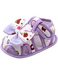 Huhua Sandali Bambine, Viola (Purple), 3-4 Anni