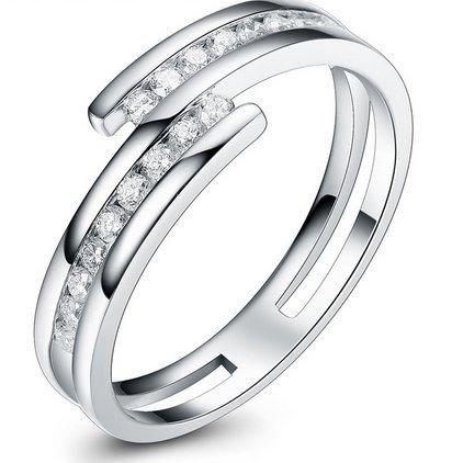 GOWE 0,21ct certificado I-J/Si diamante conjuntos de His y Hers boda banda corte redondo 18K oro blanco